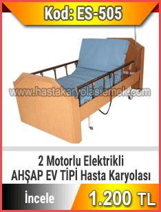 Bazalı Ev Tipi 2 Motorlu Hasta Karyolası