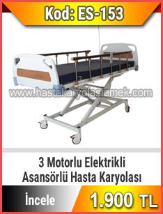 Asansörlü 3 motorlu hasta karyolası