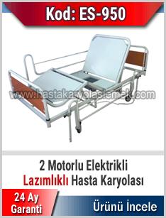 2 Motorlu Lazımlıklı Hasta Karyolası