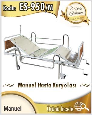Elle çevirmeli sistem manuel hasta yatağı