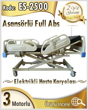 3 motorlu asansör hareketli full ABS hasta karyolası