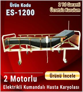 Mdf Başlıklı 2 Motorlu Hasta Karyolası