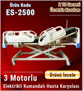 Piston Motorlu Asansörlü Hasta Karyolası