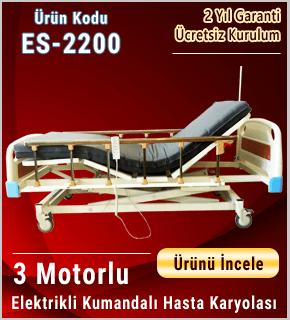 Asansör Hareketli 3 Motorlu Hasta Karyolası