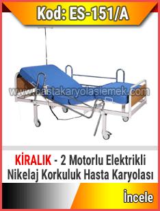 2 motorlu kiralık elektrikli hasta karyolası
