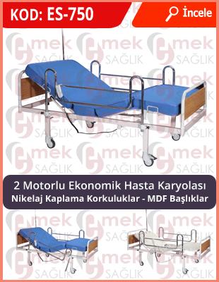 Dual motorlu elektrikli hasta yatağı